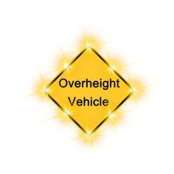 Solution-overheight vehicle sign new