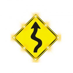 Solution-sharp bend sign new